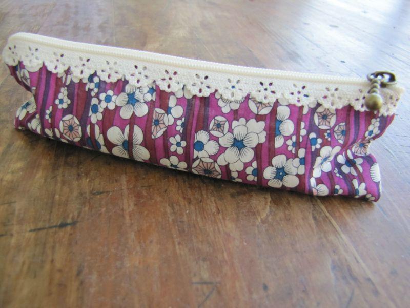 tunique fleurs + trousse 022