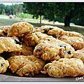 Cookies aux noix de cajou et olives noires
