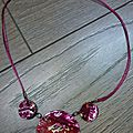 Collier fimo 3 ronds