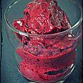 Icecream minute aux fruits rouges