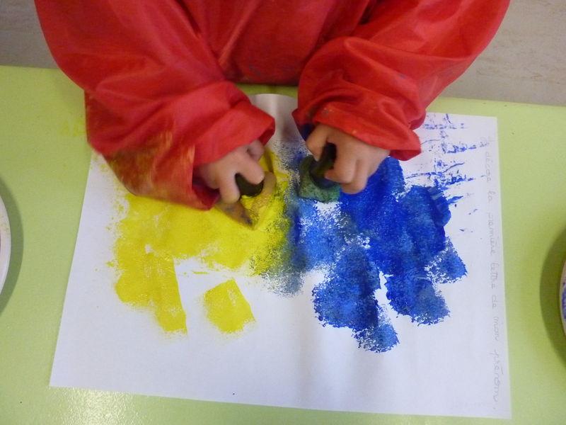 Quand petit bleu et petit jaune se rencontrent...