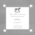 FP cheval à bascule gris 4 étoiles blanches