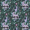 tula_pink_acacia_raccoon_in_blueberry
