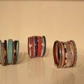 Nouvelle collection de bijoux cuir et métal argenté!