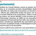 PREMIER <b>FORUM</b> <b>ASSOCIATIF</b> DEPARTEMENTAL