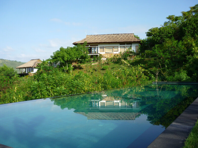 Outside view with pool