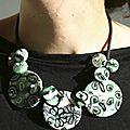 collier composé buna fleurs vertes V4