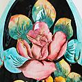Déco Vintage ... COUPE à FRUITS Vallauris * Les Roses