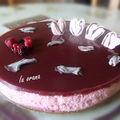 Bavarois chocolat blanc, fraises, fruits rouges