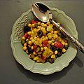 Salade tiède de pois chiches