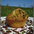 muffin pistache coeur de chocolat