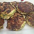 Boulettes végétariennes – courgettes, oignons, curry et flocons d'avoine