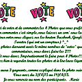Appel aux votes!!