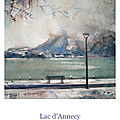 Nouvelle <b>carte</b> <b>postale</b> d'Annecy et ses environs