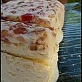 Cassate à la vanille et fleur d'oranger