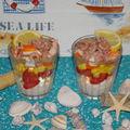 verrines de fruits de mer....