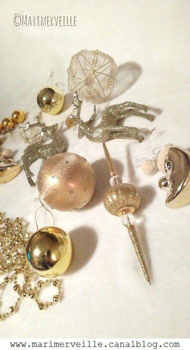 décorations de Noël or 1 - marimerveille
