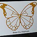 Un combo ... un papillon xxl ... des perles ... une carte pour la fête des mères !