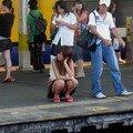 A Chiba eki, en attendant son train