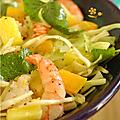 Crevette & mangue ? en salade et en poêlée !