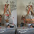 VENDU - grand sac à langer bébé fashion moderne nombreux rangements poches thème étoiles corail abricot doré gris 4