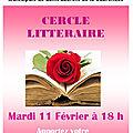 Cercle littéraire <b>11</b> <b>février</b> <b>2020</b>