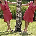 Duo de fête des mères (robe b5744 butterick version a)