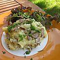 Ecrasée de pommes de terre à l'andouille de bretagne