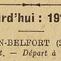 <b>Tour</b> de <b>France</b> 1931, Belfort ville étape