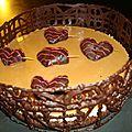 Bavarois au chocolat blanc et aux werther's original