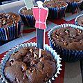 Cupcakes chocolat-courgette sans gluten pour les jo de londres