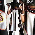 Robe trapèze Graphique Noire & blanche à pois