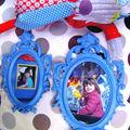 Cadres bleues pour princesse baroque