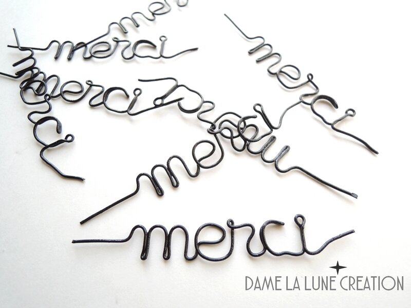 merci-mot-fil de fer -dame la lune-creation