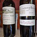Saint Emilion :Troplong Mondot 2000 et La Fleur d'<b>Arthus</b> 2010