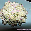Quinotto crémeux jambon champignons