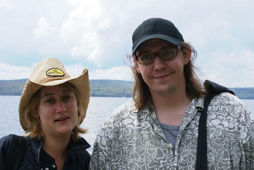 Nous deux au lac Mégantic