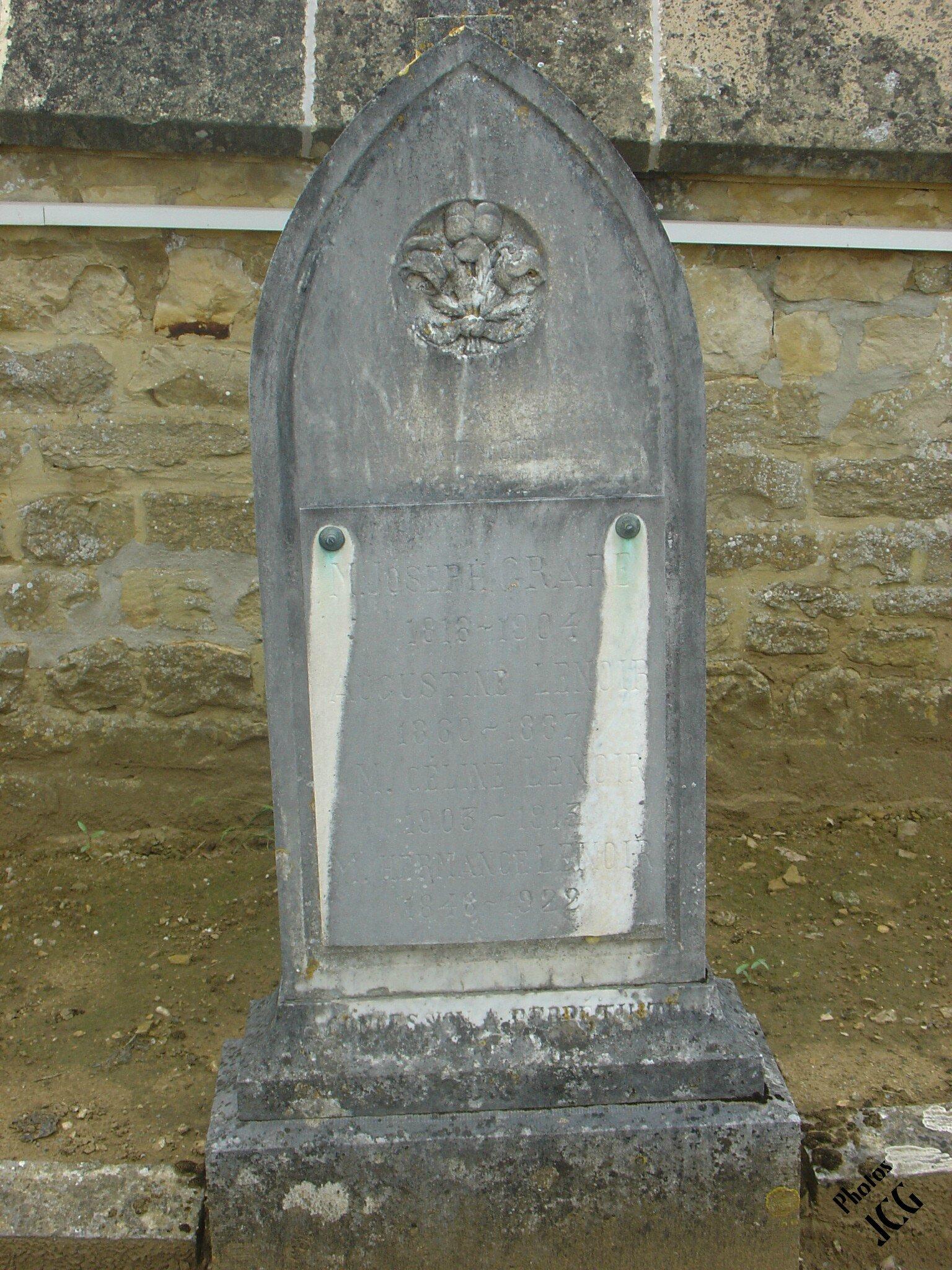 Joseph GRARE1818-1904- Augustine LENOIR 1860-1887 - Céline LENOIR 1903-1913 - Hermance LENOIR 1848-1922