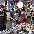 los scouts en el mercado de san Antonio