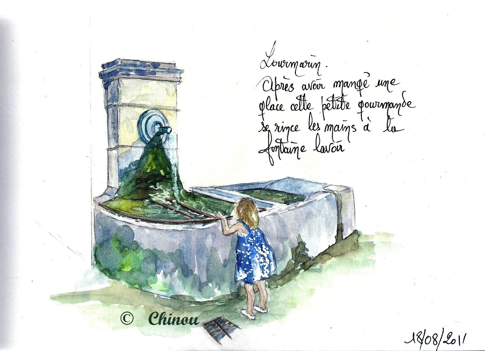 Fontaine lavoir -Lourmarin-