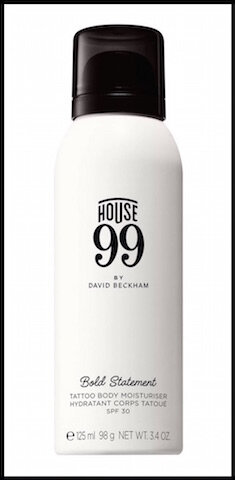 house 99 by david beckham hydratant corps tatoue spf30