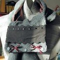 Une écharpe customisée pour Cécile