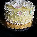 Gâteau marguerites anniversaire d'assia