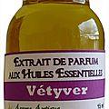 Extrait de parfum vétiver - perfume extract vétyver