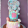 Layer cake à <b>étages</b> - pink and blue
