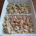 Gratin de pâtes-courgettes et ricotta ( 10 pp/personnne )