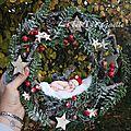 couronne de noël et son <b>elfe</b> ( 36€ )