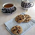 Cookies chocolat & noisettes...100% végétaux!!!