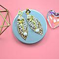 <b>Boucles</b> <b>d</b>'<b>oreilles</b> en perles et feuilles pour les débutants