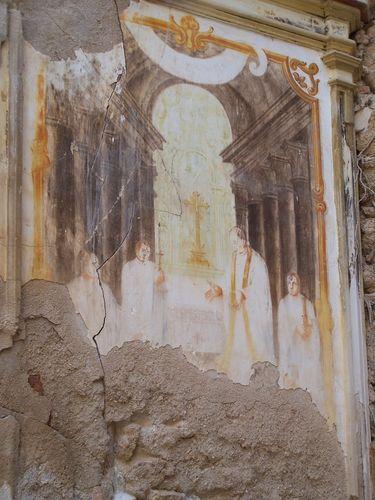 Monastère de Piedra-fresque ancienne
